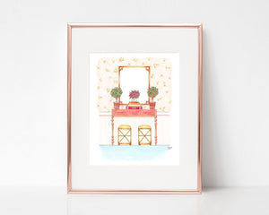 Clementine Dream Entryway Art Print