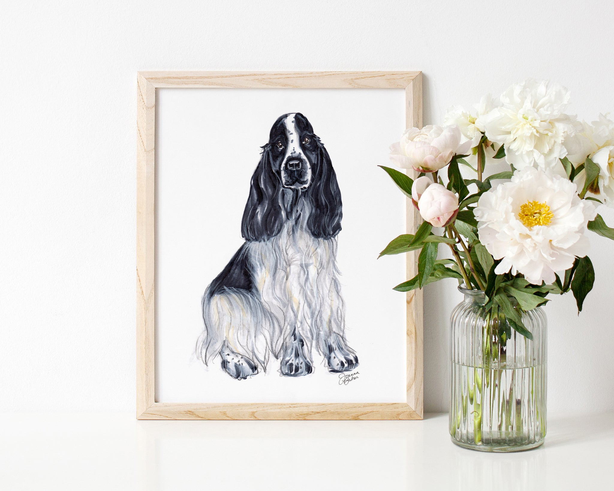 Dolly the Cocker Spaniel Art Print