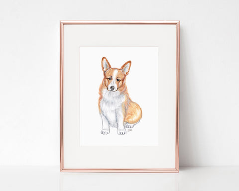 Scotch the Welsh Corgi Art Print