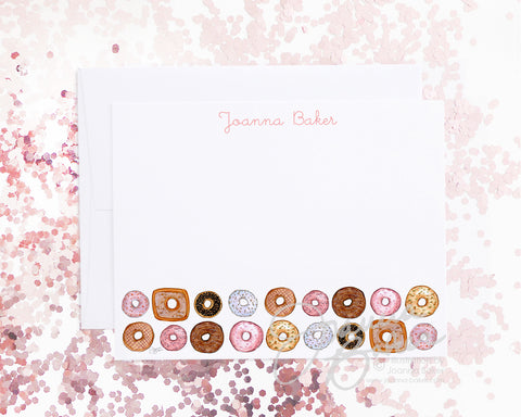 Donuts for Days Flat Note Card Set