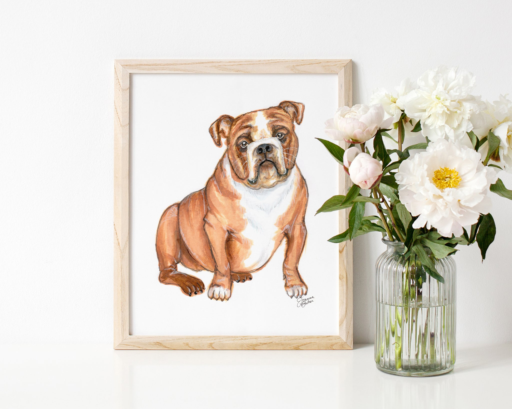 Petunia the English Bulldog Art Print