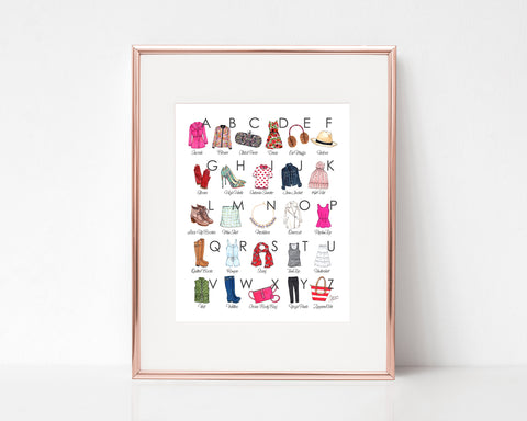Fashion Illustrated Alphabet Art Print