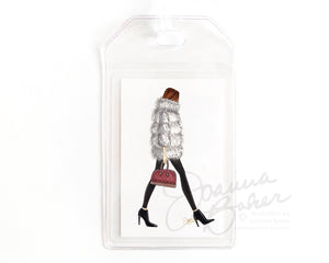 Faux Fur Weather Luggage Tag