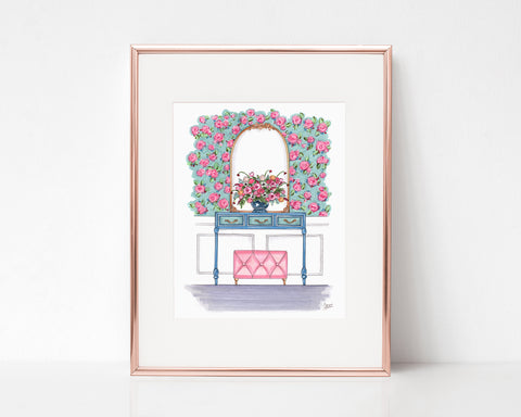 French Floral Dream Entryway Art Print