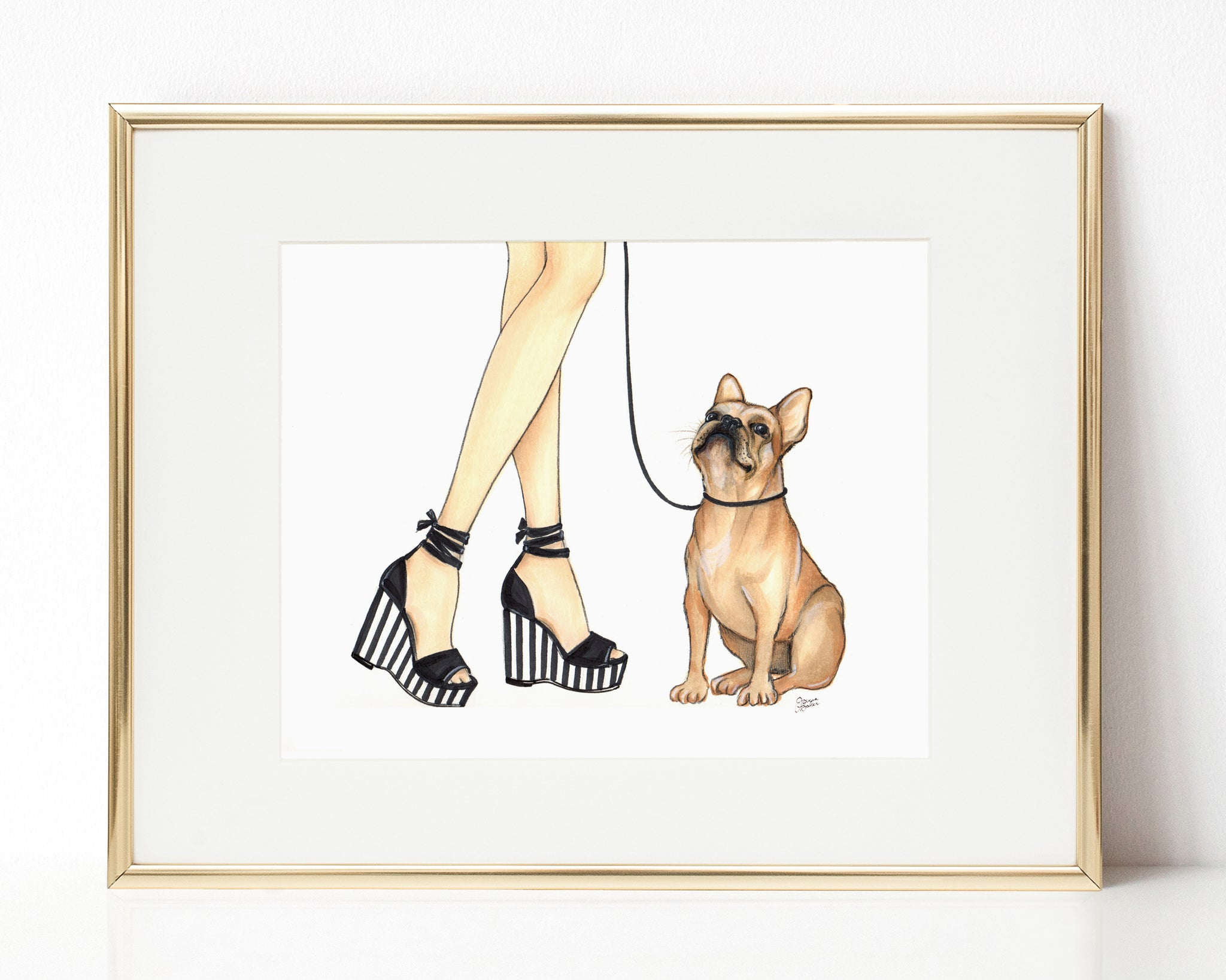 Pierre the French Bulldog Art Print