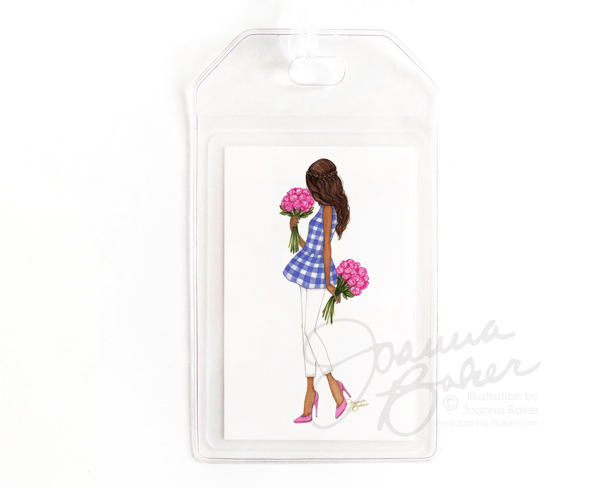 Peplums & Peonies Luggage Tag