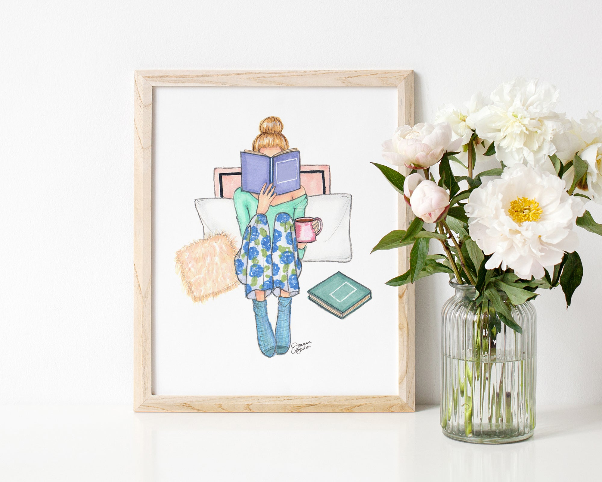 Cozy Reading Fashion Illustration Art Print