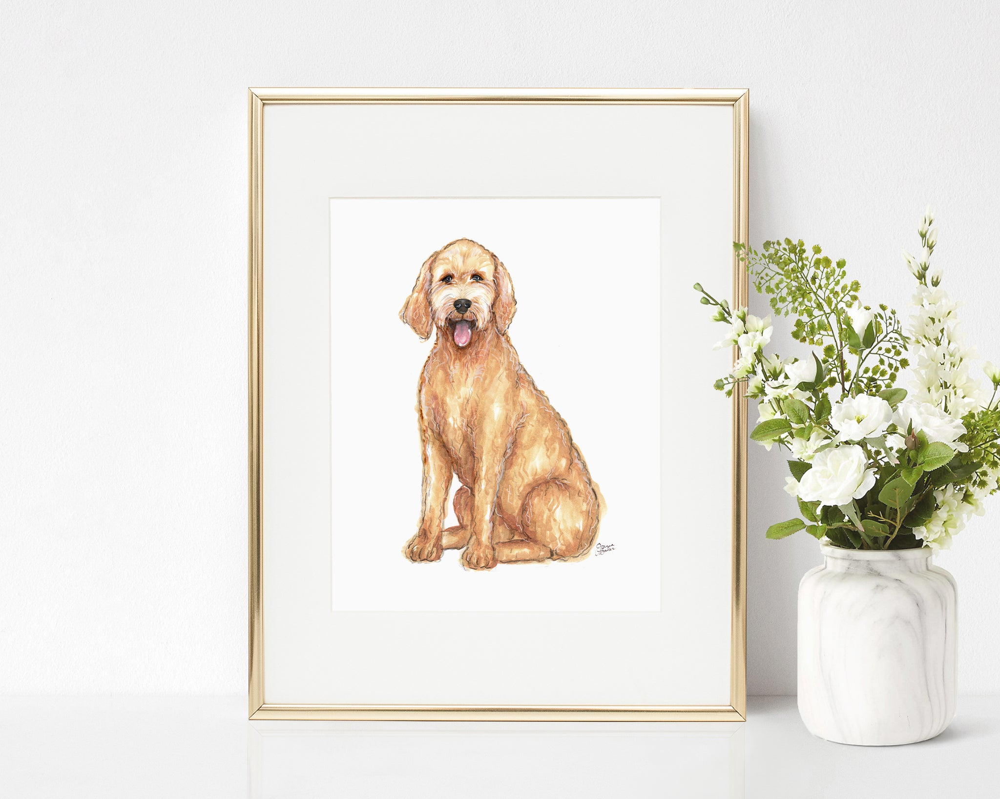 Lulu the Goldendoodle Art Print