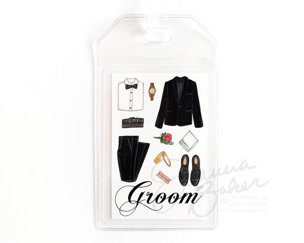 Wedding Luggage Tag for the Groom