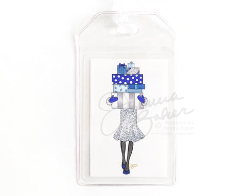 Hanukkah Gifts Holiday Luggage Tag
