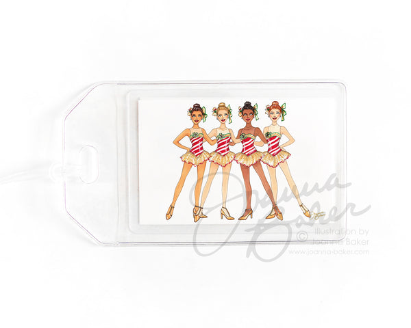 Holiday Dancers NYC Luggage Tag