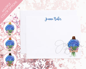 Hydrangea Blooms Flat Note Card Set