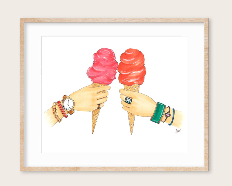 Gelato Toast Fashion Illustration Art Print