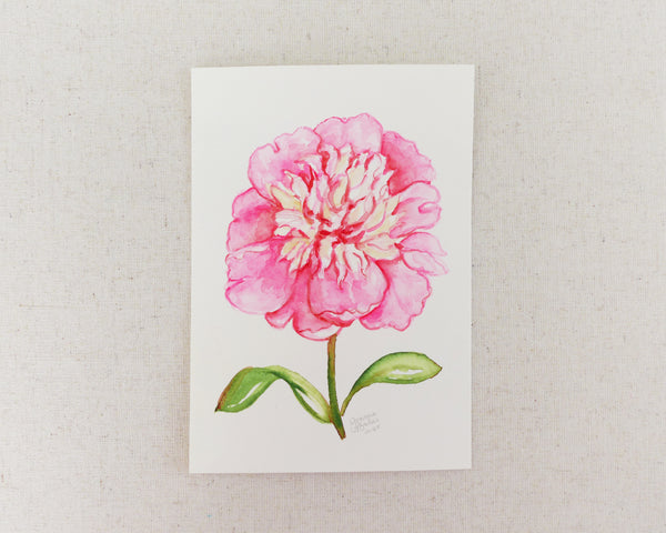 """Lady Liberty Peony"" an Original Watercolor Painting"