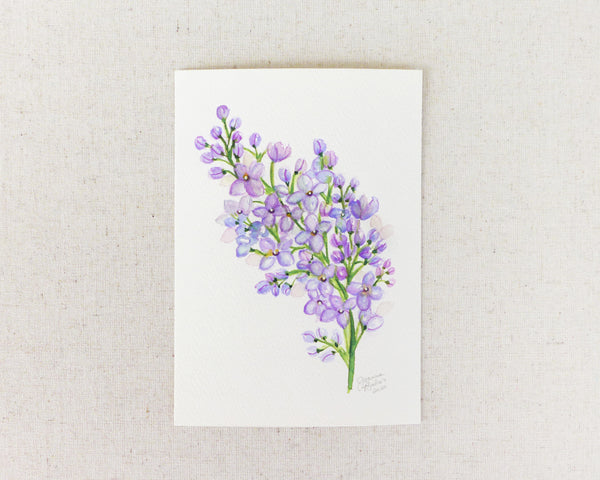 """Fragrant Lilac"" an Original Watercolor Painting"