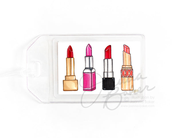 Lipstick Luggage Tag