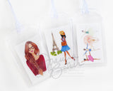 Fashion Illustration Luggage Tag - Choose Your Illustration!
