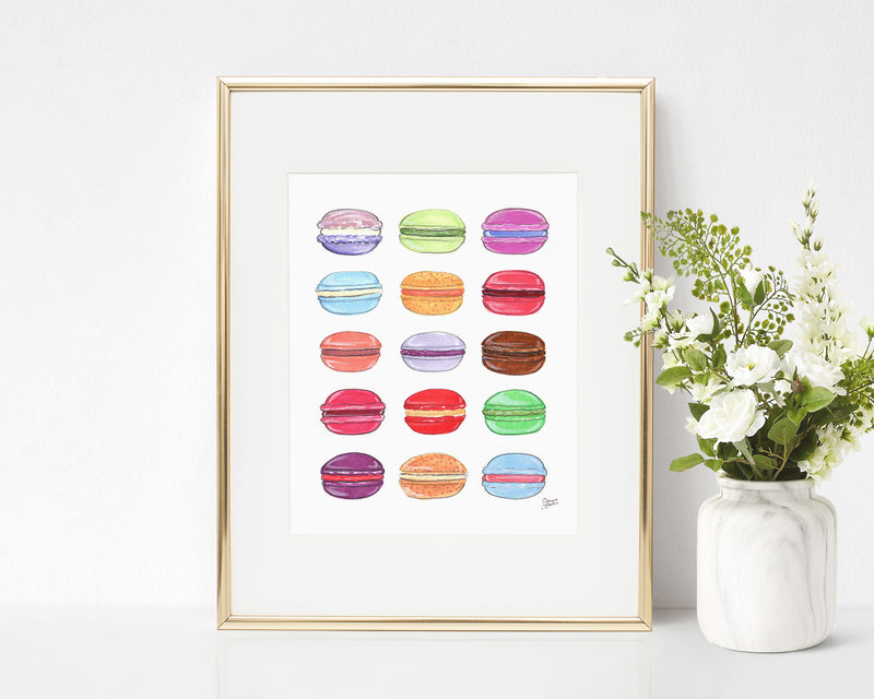 Macaron Day Illustration Art Print