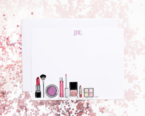 Makeup Flat Note Card Set