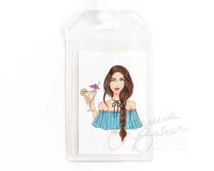 Margarita Happy Hour Luggage Tag