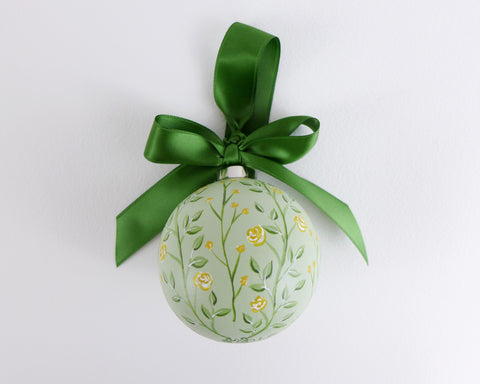 Mint Climbing Roses Heirloom Ornament