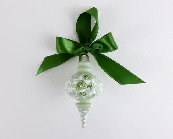 Mint Rose Bouquet Heirloom Ornament