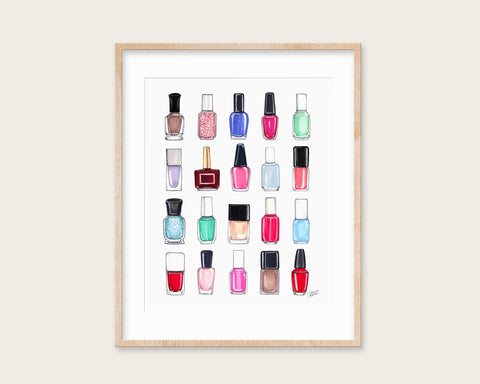 All The Nail Polish Beauty Illustration Art Print