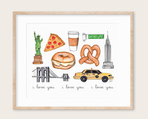 New York City Illustration Art Print
