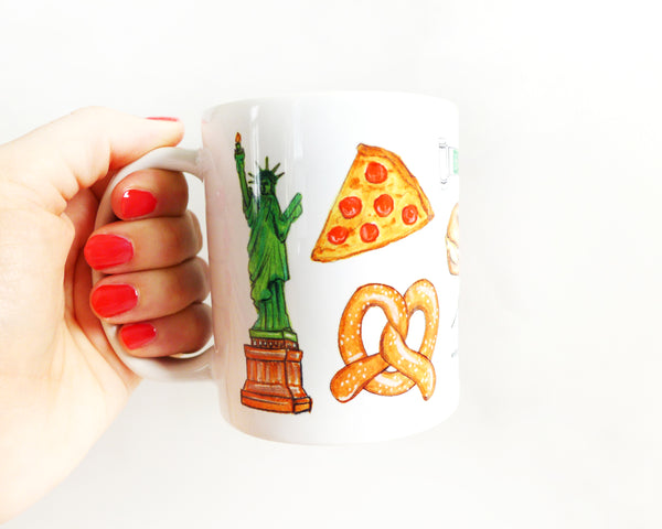 New York City Illustration Mug