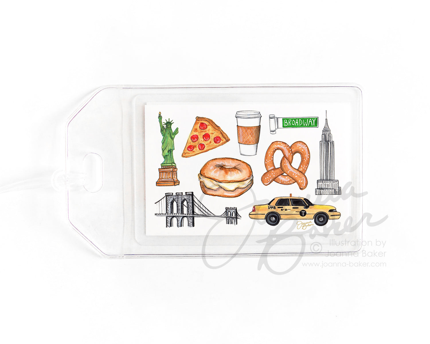 New York City Favorites Luggage Tag