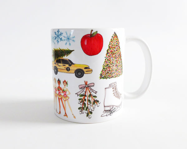 Christmas in New York Illustration Mug
