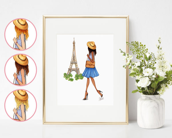 Paris is Always A Good Idea Fashion Illustration Art Print