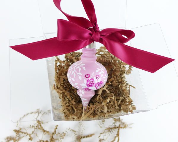 Pink Rose Bouquet Heirloom Ornament