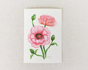 """Bold Poppy"" an Original Watercolor Painting"