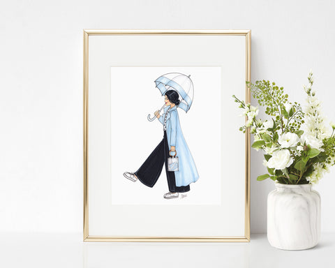 Rain Date Fashion Illustration Art Print