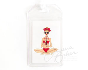 Little Red Bikini Luggage Tag