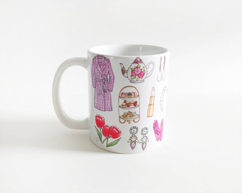 Royal Favorites Fashion Illustration Mug