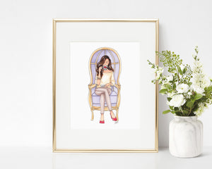 Royal Tea Fashion Illustration Art Print