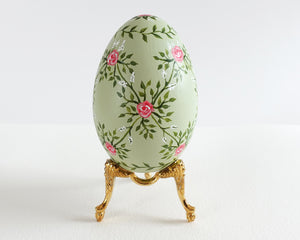 Soft Mint Rose Lattice Heirloom Egg