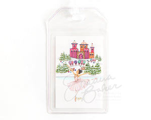 Sugar Plum Fairy Fashion Illustration Luggage Tag