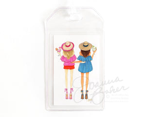 Summer Besties Luggage Tag