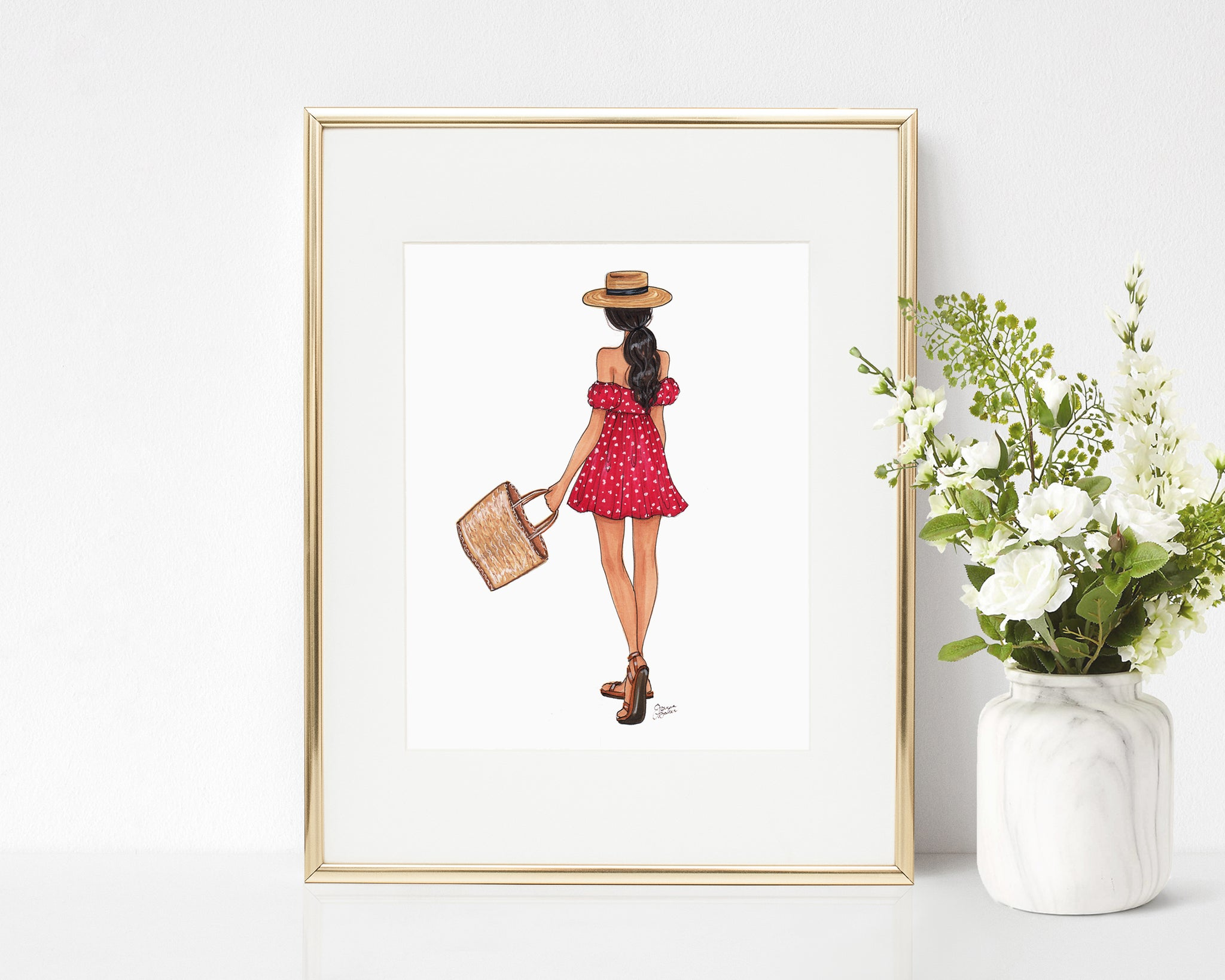 Summer in Tuscany Fashion Illustration Art Print
