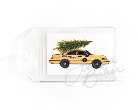Taxi Tree NYC Luggage Tag