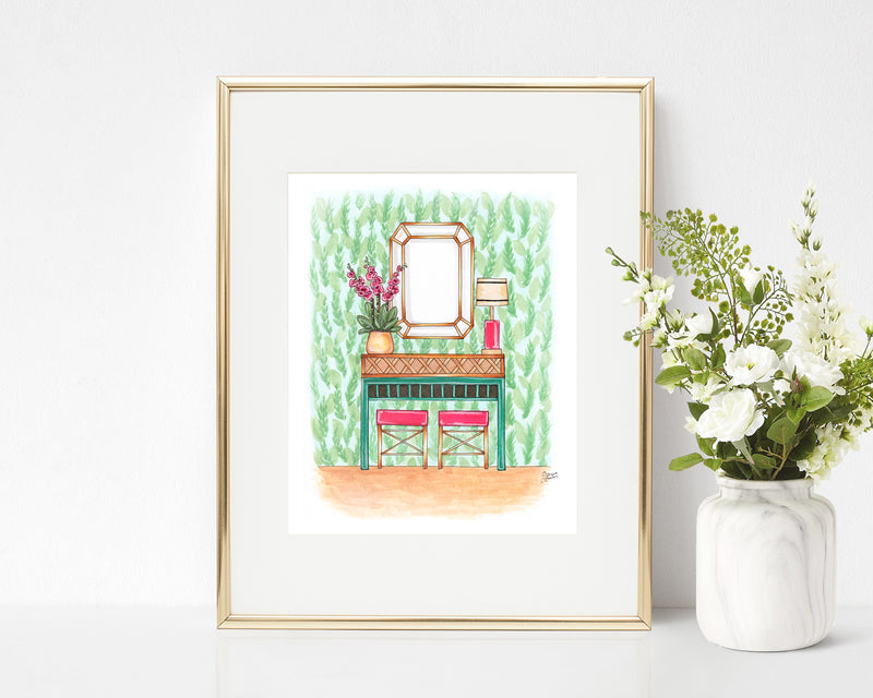 Tropical Dream Entryway Art Print