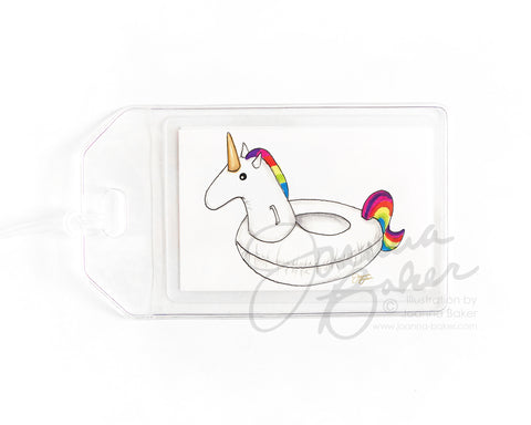 Unicorn Float Luggage Tag