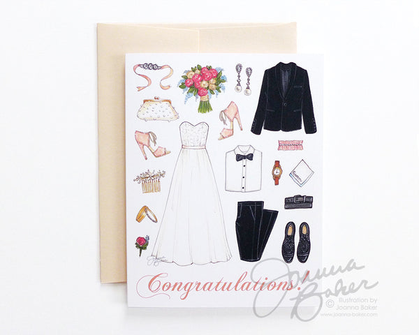 Wedding Congrats Folded Note Card