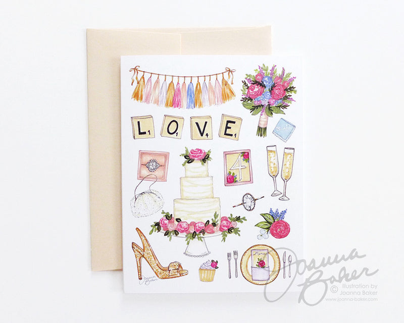 Wedding Favorite Things Folded Note Card