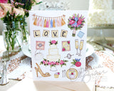 Wedding Favorites Folded Note Card - Single Card