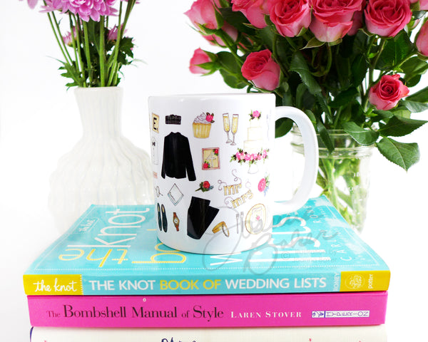 Wedding Favorites Fashion Illustration Mug