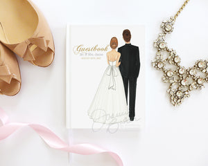 Bride & Groom Personalized Wedding Journal / Note Book / Guestbook